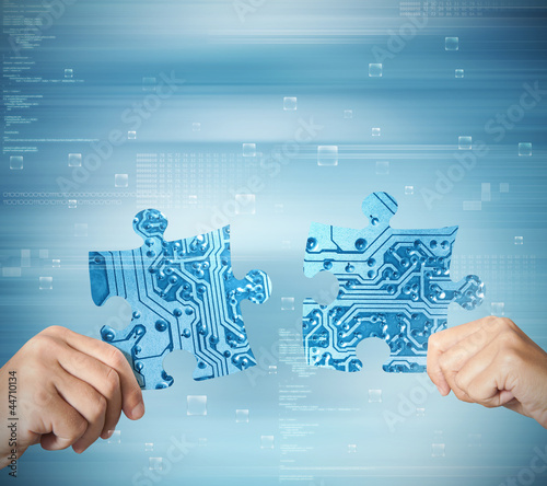 Fotografía  System integration concept