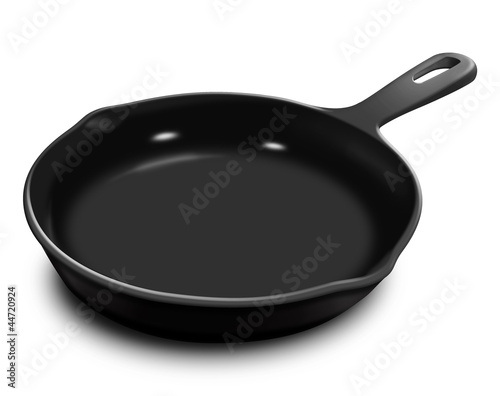 Fotografie, Obraz  Illustrated Frying Pan