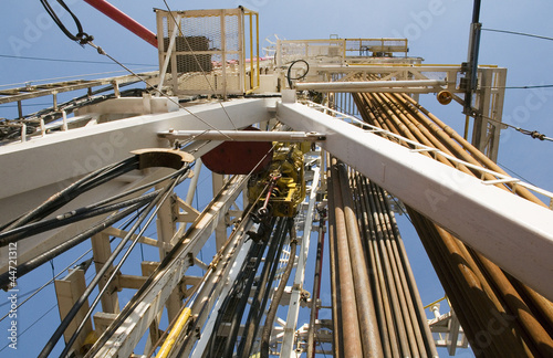 Oil Rig Machinery and Tower - Buy this stock photo and