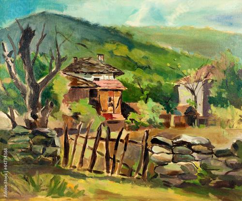 Nowoczesny obraz na płótnie Country house