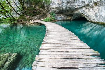 Obraz na Szkle Ponte di Plitvice