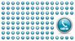 Leinwanddruck Bild - blue web icons set