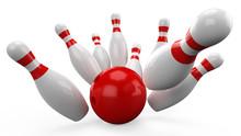 3D Bowling Ball Crashing Into ...