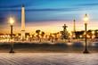 Leinwanddruck Bild - Paris Place de la Concorde