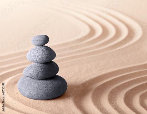 Acrylic Prints Stones in Sand Japanese zen meditation garden