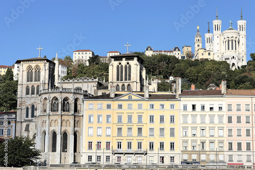 Staande foto Las Vegas Lyon city with famous basilica