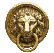 Lion Head Door Knocker, Ancien...