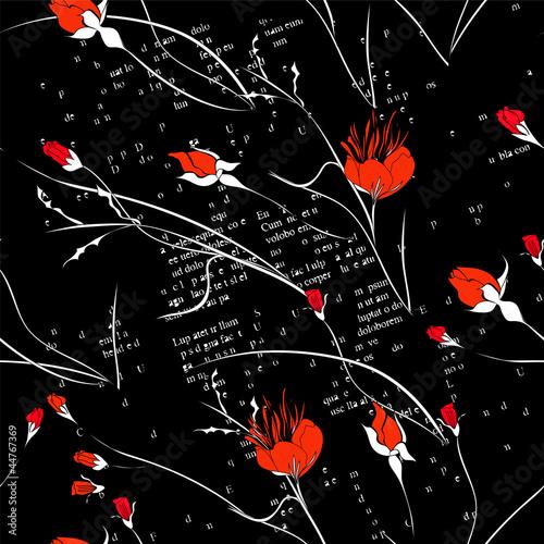 Keuken foto achterwand Abstract bloemen Stylized seamless wallpaper