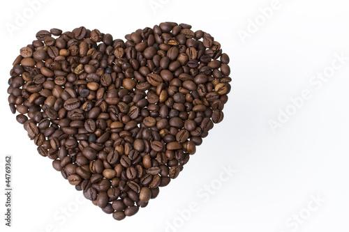 Canvas Prints Coffee beans herz aus kaffeebohnen querformat