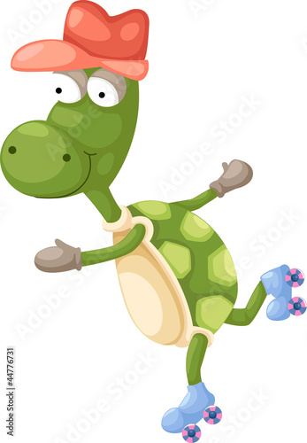 Photo Stands Draw illustration Turtles vector