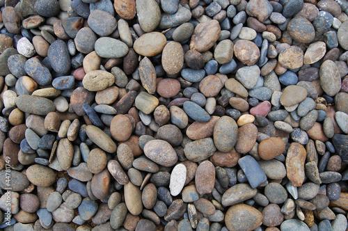decorative floor pattern of a gravel stone