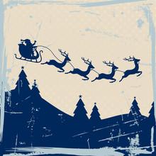 Christmas Sleigh 4 Flying Rein...