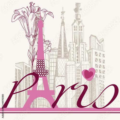 plakat-z-napisem-paris-na-tle-architektury-miejskiej-paryza