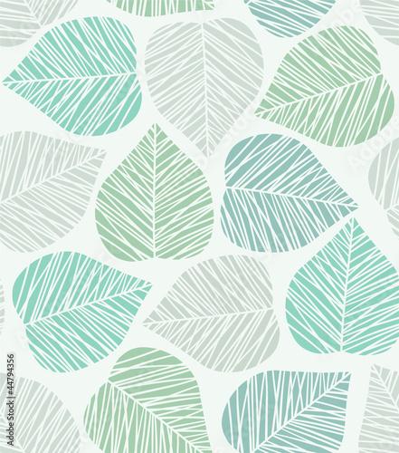 Fototapeta na wymiar Seamless stylized leaf pattern. Vector illustration