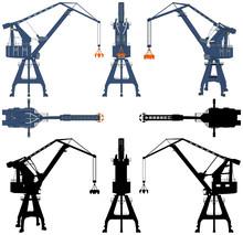 Shipyard Crane Vector 04