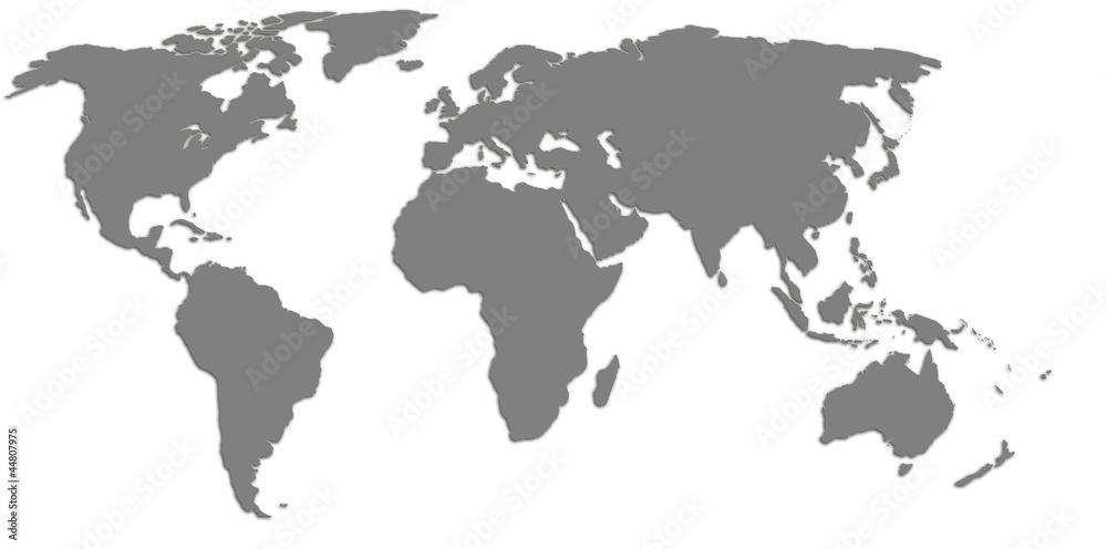 High quality world map Foto, Poster, Wandbilder bei EuroPosters