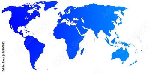 In de dag Wereldkaart High quality blue map of the World