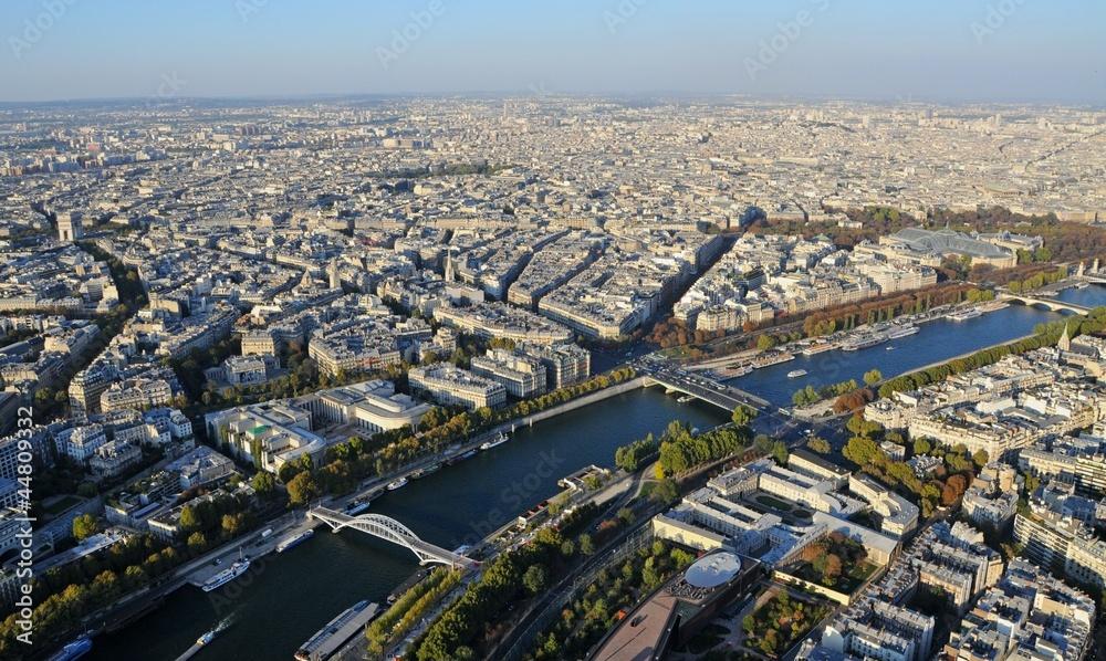 Fototapety, obrazy: Paryż z wieży Eiffla