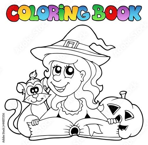 Tuinposter Doe het zelf Coloring book Halloween topic 6