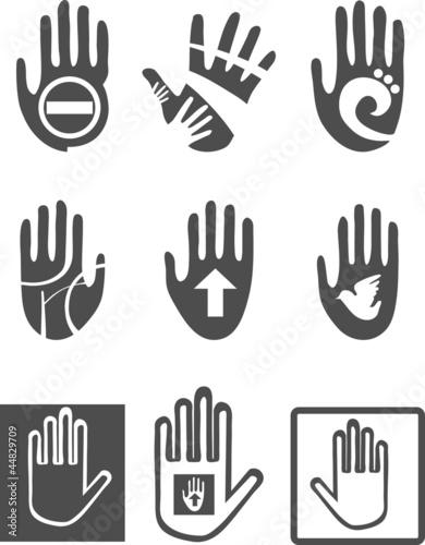 Fototapeta Icons  Hands obraz na płótnie