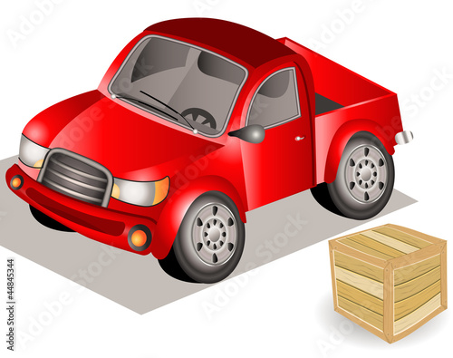 Foto op Canvas Cars small truck.