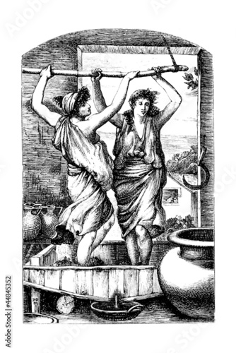 Photo Antiquity : Trampling the Grapes - Piétiner le Raisin