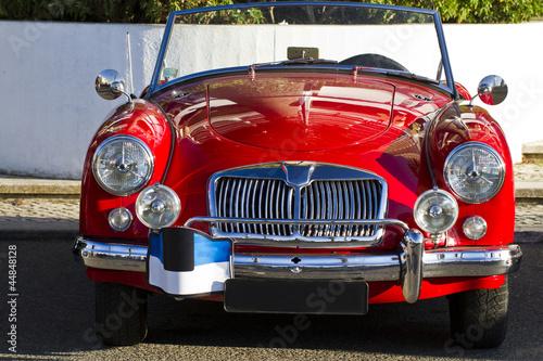 Deurstickers Oude auto s vintage car detail