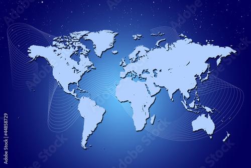 Cadres-photo bureau Carte du monde earth map