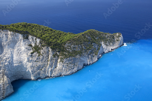 Valokuva  Blue lagoon, island paradise. Ionic Sea of Greece Zakynthos, pop