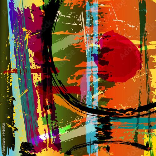 abstrakcjonistyczna-tlo-ilustracja-maluje-uderzenia-i-plusniecia