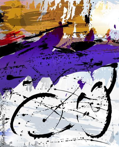 abstrakcyjne-tlo-ilustracji-z-pociagnieciami-farby-i-splashe