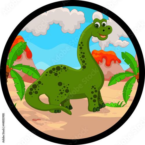 Wall Murals Dinosaurs funny dinosaur cartoon