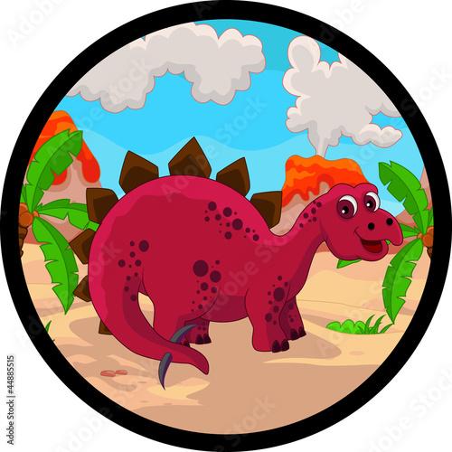 Tuinposter Dinosaurs funny dinosaur cartoon