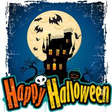 Happy Halloween White Background