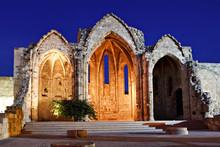 Medieval Church Ruins, Rhodes,...