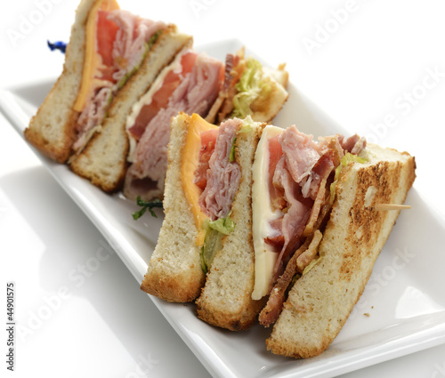 Canvas Prints Fish Club Sandwich