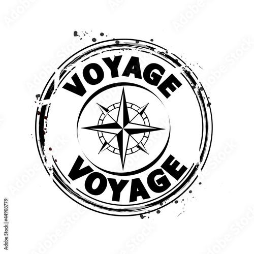 Fototapeta timbre voyage