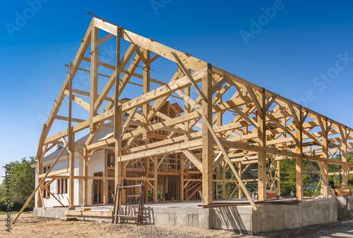 Photo New House Construction Framing