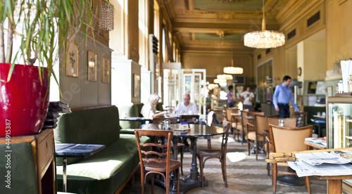 fototapeta na lodówkę Traditional viennese coffee house