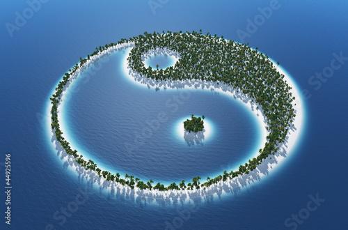 Fotografía Yin und Yang - Insel Konzept 2