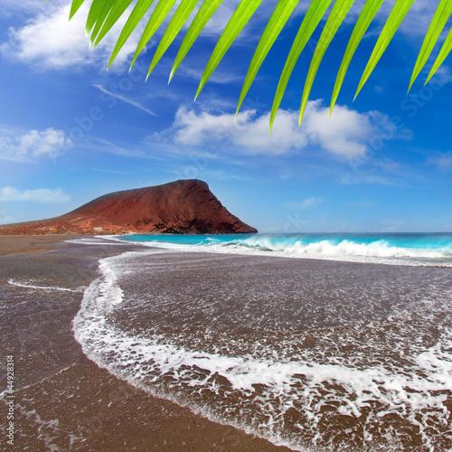 Deurstickers Canarische Eilanden Beach Playa de la Tejita in Tenerife