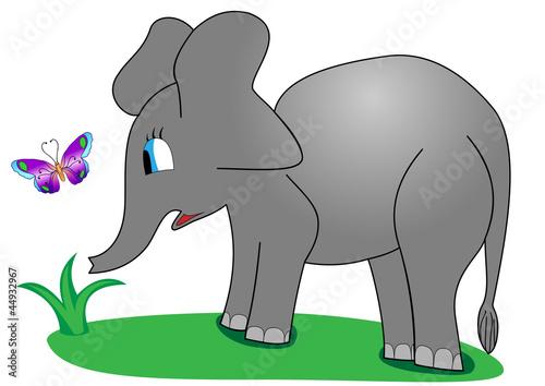 Poster de jardin Zoo Baby Elephant