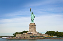 Liberty  Island, Vue Du Bateau...