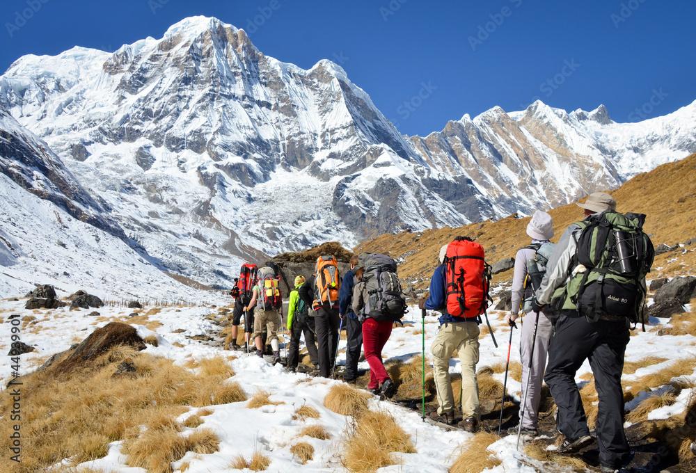 Fototapety, obrazy: Annapurna Base Camp trekking