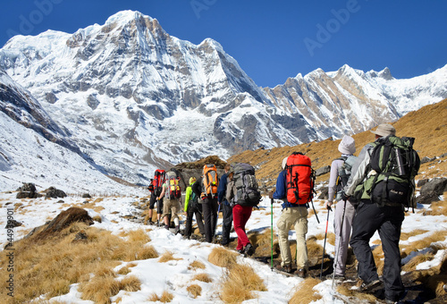 Obraz Annapurna Base Camp trekking - fototapety do salonu