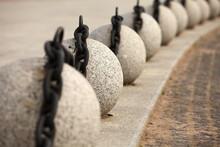 Decorative Fence Granite Balls With Chain