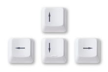 Computer Arrow Keys Isolated O...