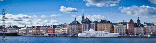 Beautiful panorama view of Gamla Stan, Stockholm, Sweden