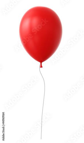3d red balloon