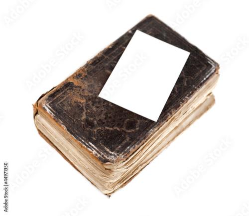 Vieux Livre Et Carte Blanche Espace Vide Buy This Stock